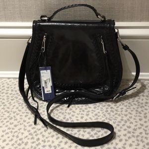 NWT Rebecca Minkoff Black Vanity Saddle Crossbody